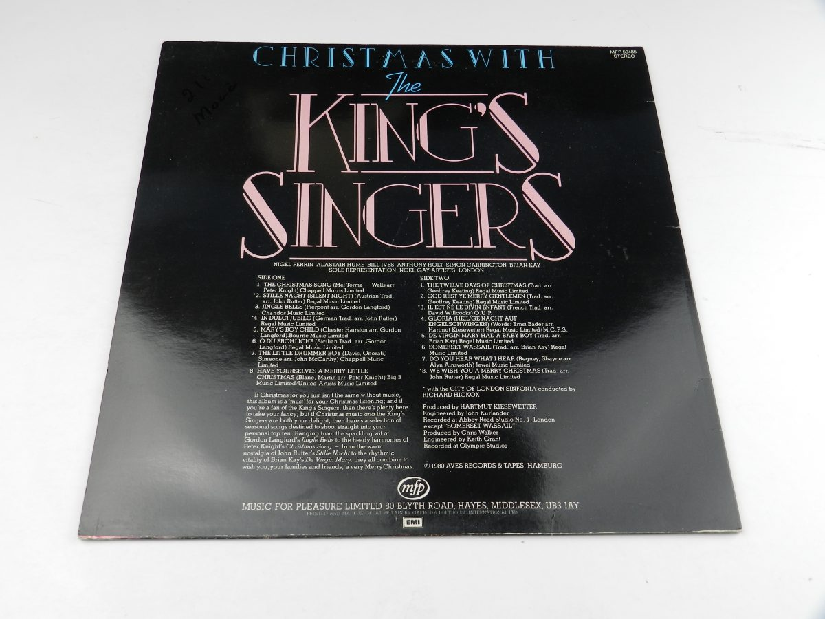 The Kings Singers – Christmas With The Kings Singers vinyl record sleeve rear scaled