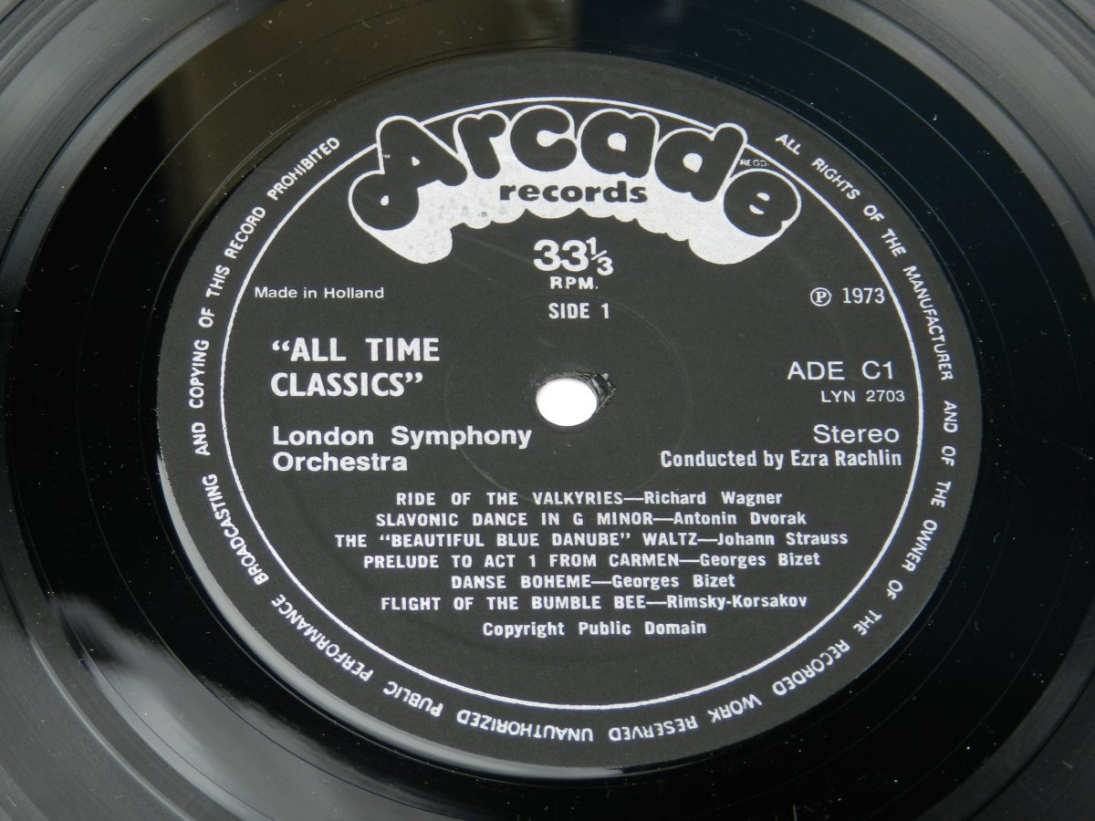 The London Symphony Orchestra Conducted By Ezra Rachlin – All Time Classics vinyl record side A label scaled