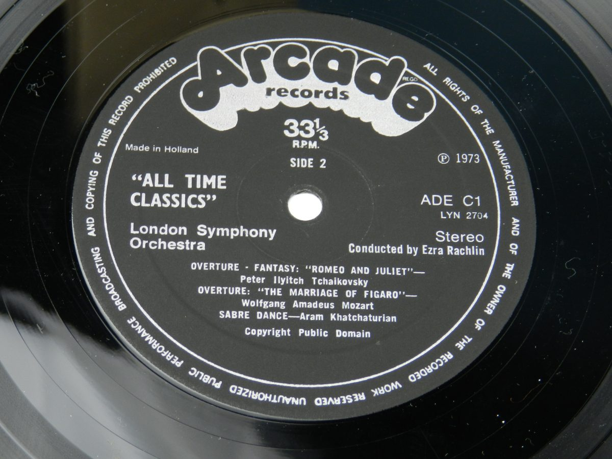 The London Symphony Orchestra Conducted By Ezra Rachlin – All Time Classics vinyl record side B label scaled