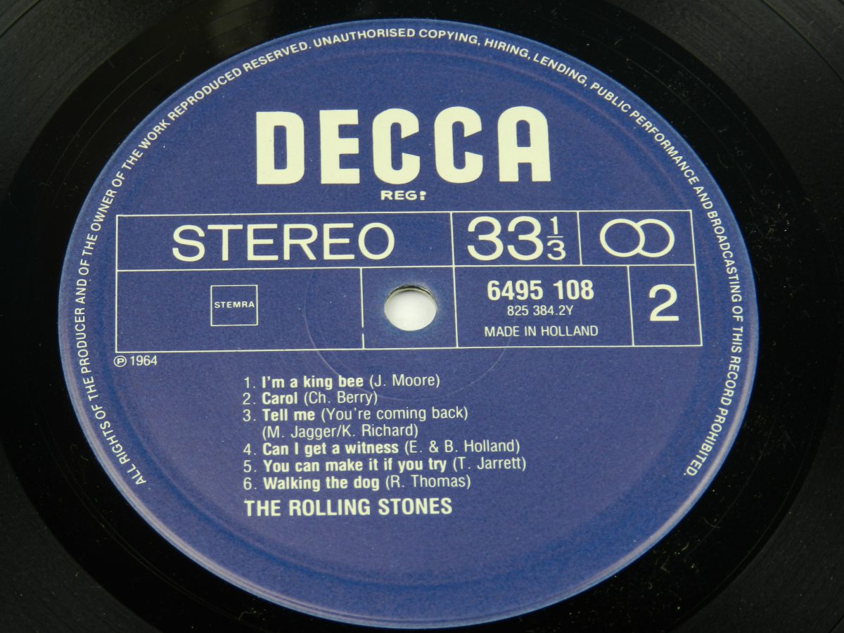 The Rolling Stones – The Rolling Stones vinyl record side B label scaled