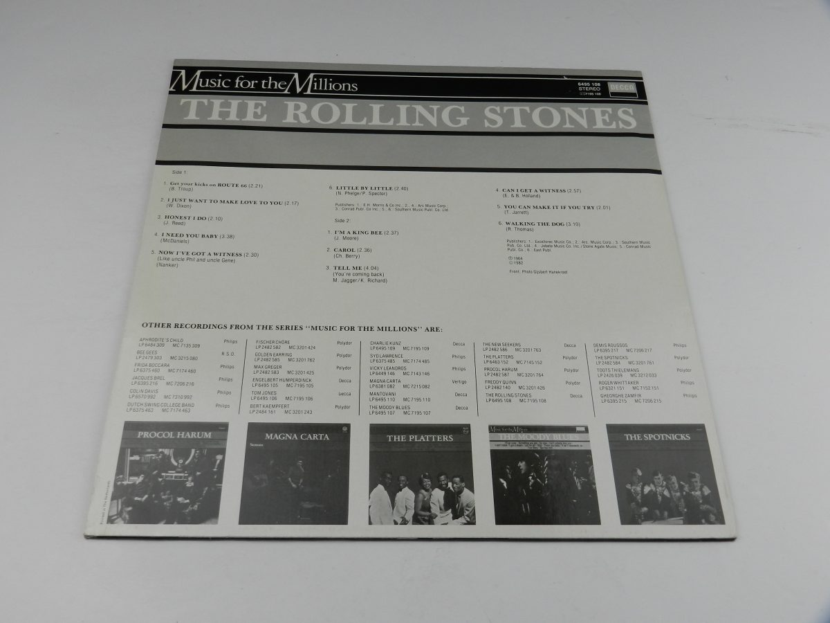 The Rolling Stones – The Rolling Stones vinyl record sleeve rear scaled