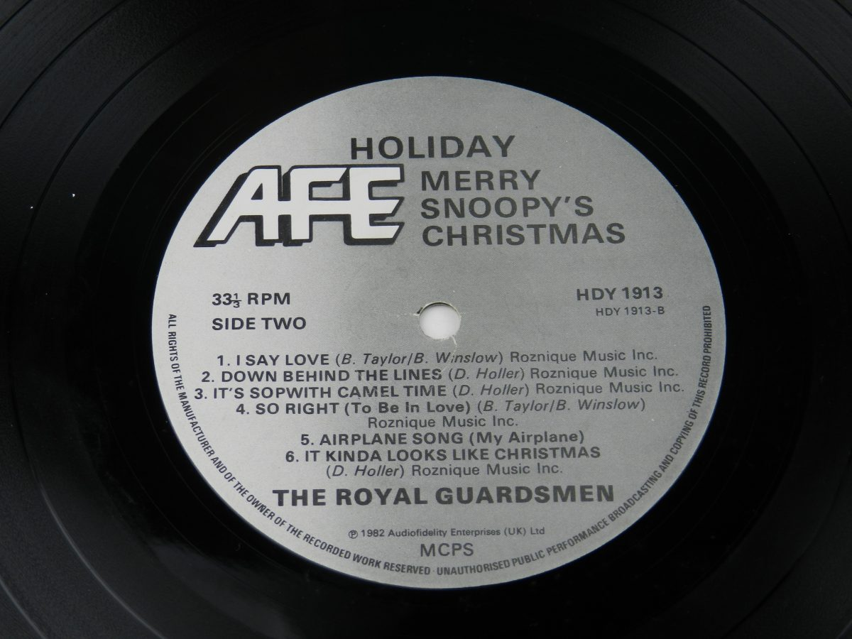 The Royal Guardsmen – Merry Snoopys Christmas vinyl record side B label scaled