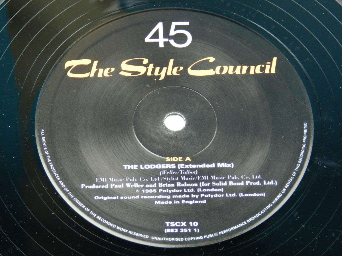 The Style Council Featuring Dee C. Lee – The Lodgers vinyl record side A label scaled