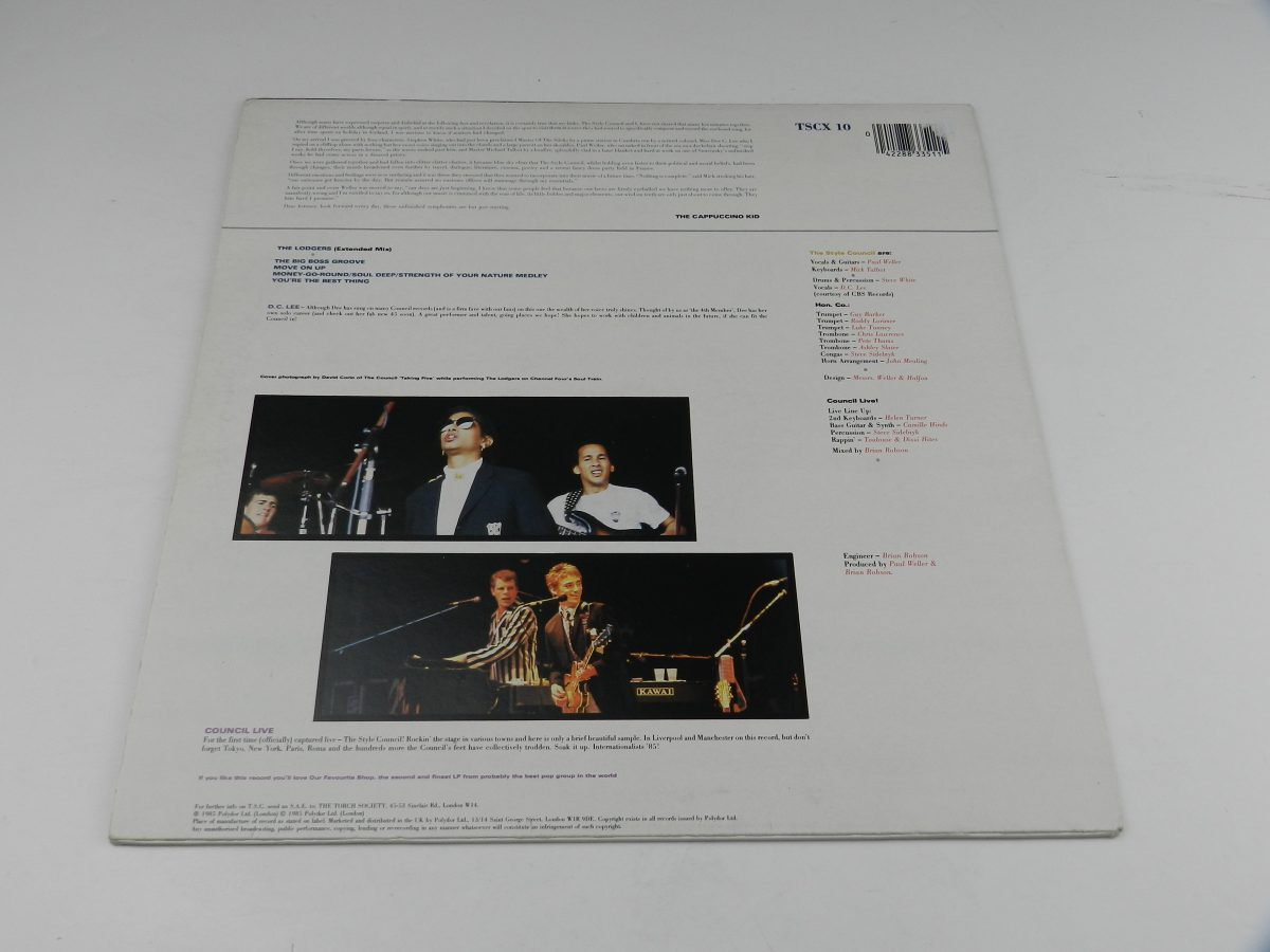 The Style Council Featuring Dee C. Lee – The Lodgers vinyl record sleeve rear scaled