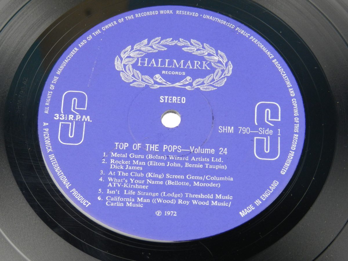 The Top Of The Poppers – Top Of The Pops Vol. 24 vinyl record side A label scaled