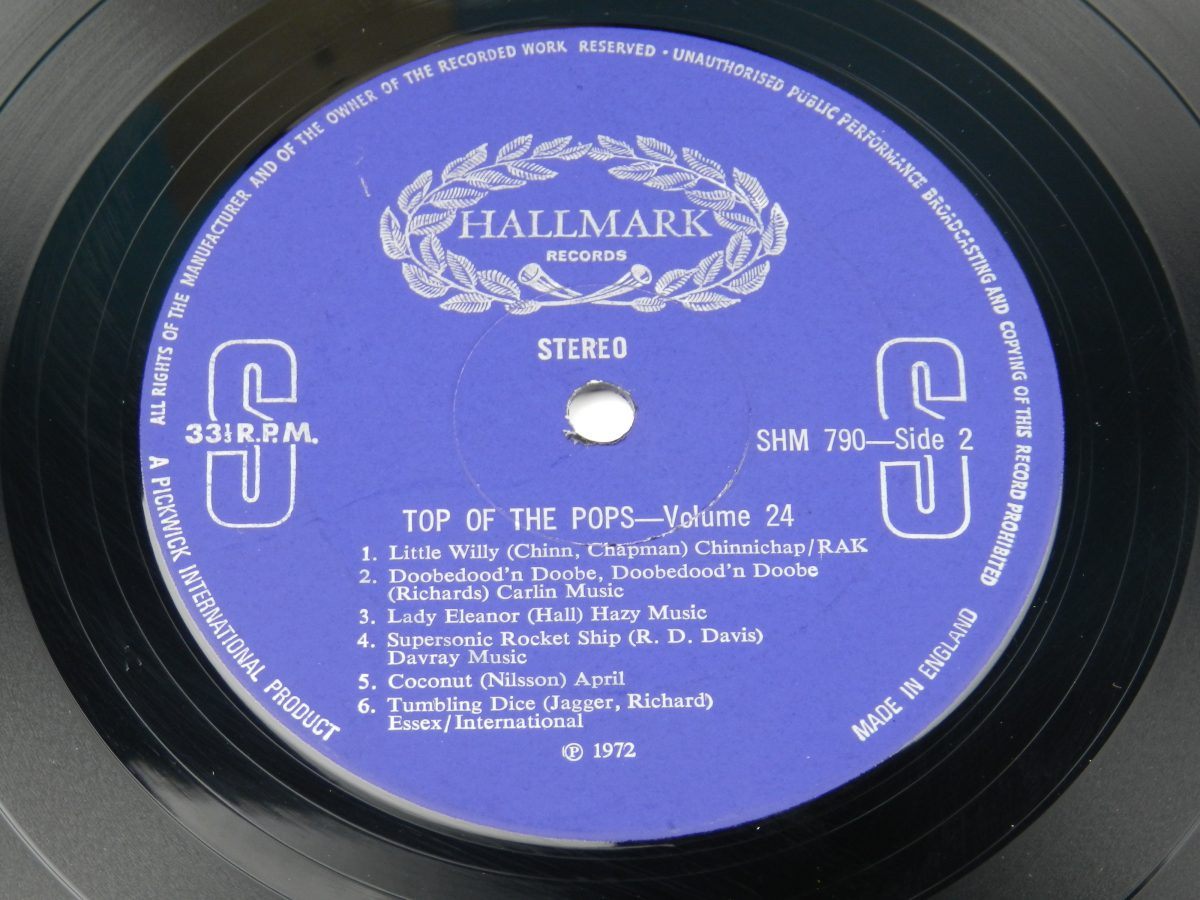 The Top Of The Poppers – Top Of The Pops Vol. 24 vinyl record side B label scaled