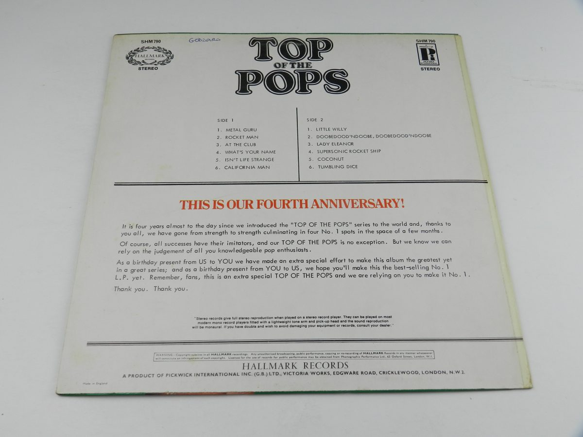The Top Of The Poppers – Top Of The Pops Vol. 24 vinyl record sleeve rear scaled