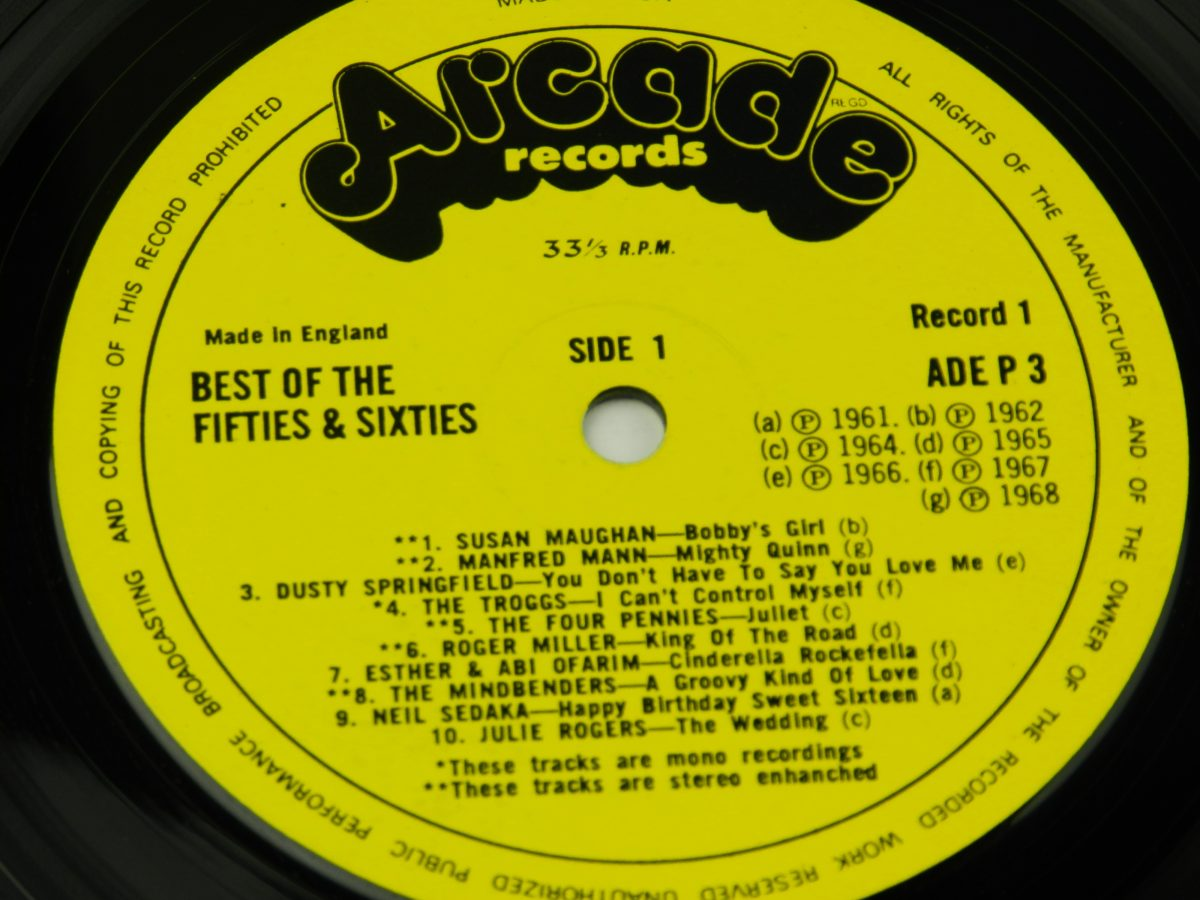 Various – 40 Fantastic Hits From The 50s And 60s vinyl record side A label scaled
