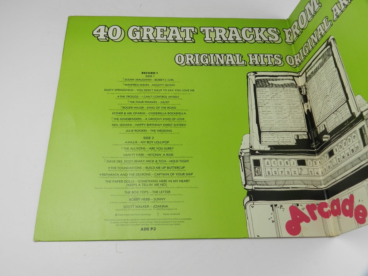 Various – 40 Fantastic Hits From The 50s And 60s vinyl record sleeve gatefold 1 scaled