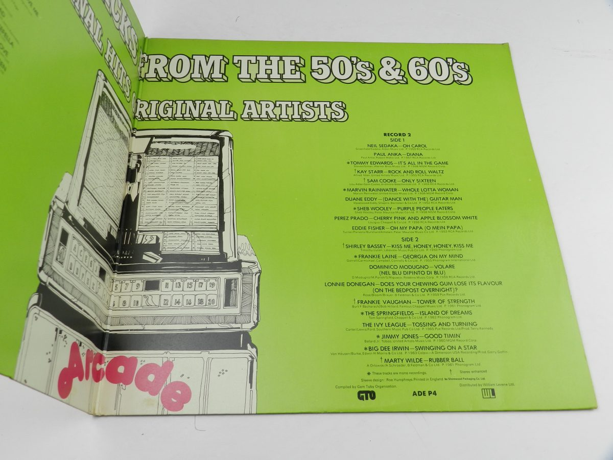 Various – 40 Fantastic Hits From The 50s And 60s vinyl record sleeve gatefold 2 scaled
