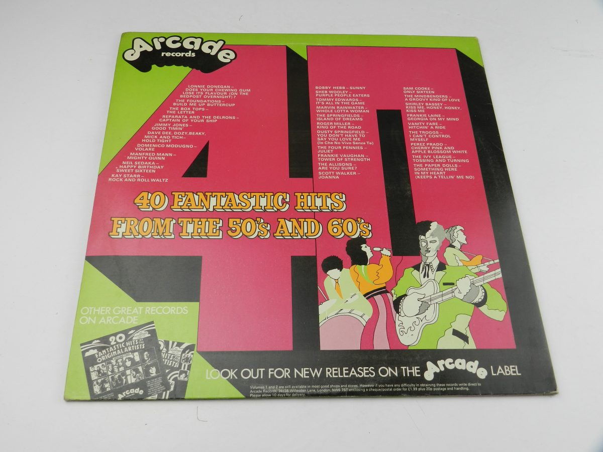 Various – 40 Fantastic Hits From The 50s And 60s vinyl record sleeve rear scaled
