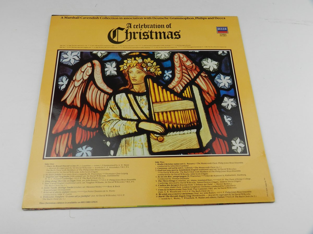 Various – A Celebration Of Christmas vinyl record sleeve rear scaled