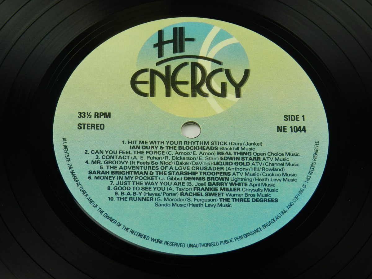 Various – Hi Energy vinyl record side A label scaled