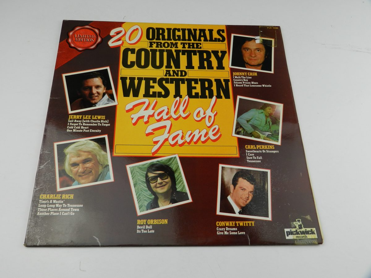 Various – 20 Originals From The Country And Western Hall Of Fame vinyl record sleeve scaled