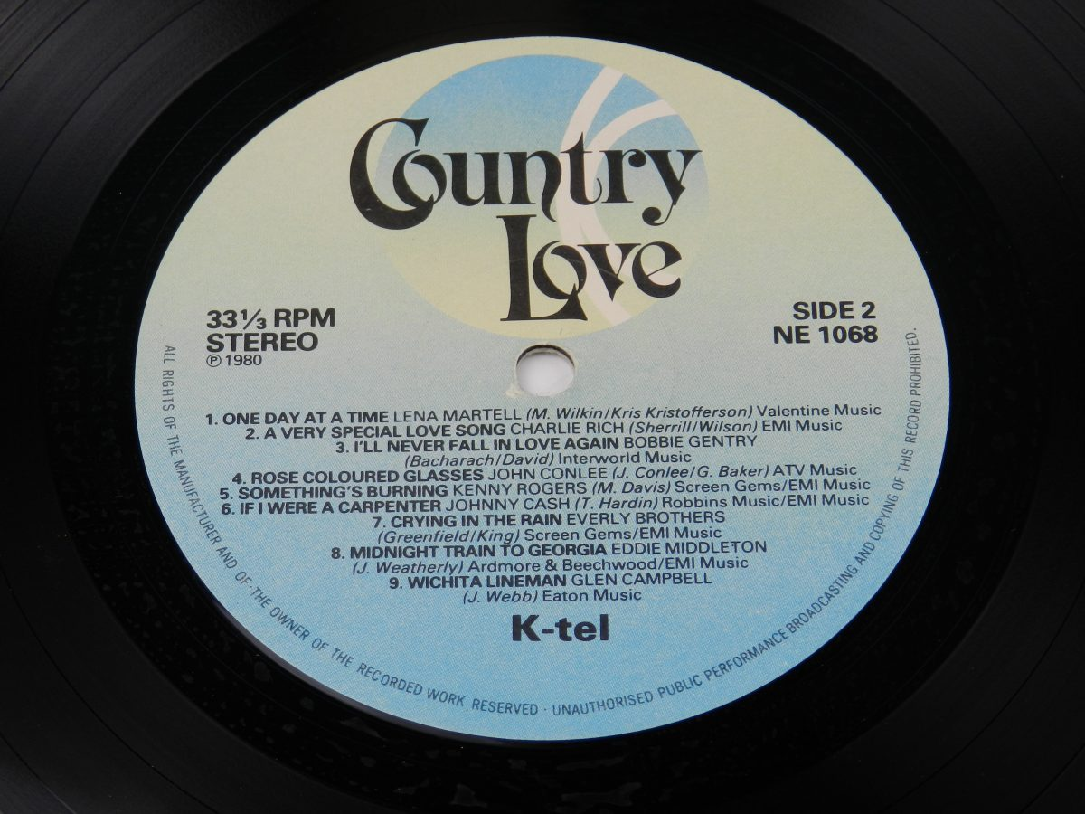 Various – Country Love vinyl record side B label scaled