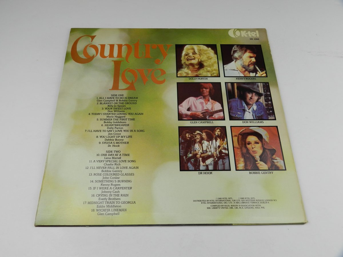 Various – Country Love vinyl record sleeve rear scaled