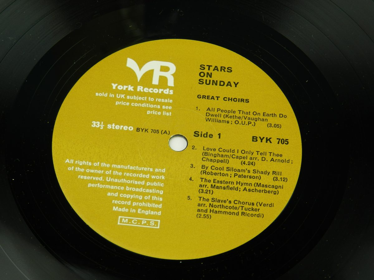 Various – Stars On Sunday vinyl record side A label scaled
