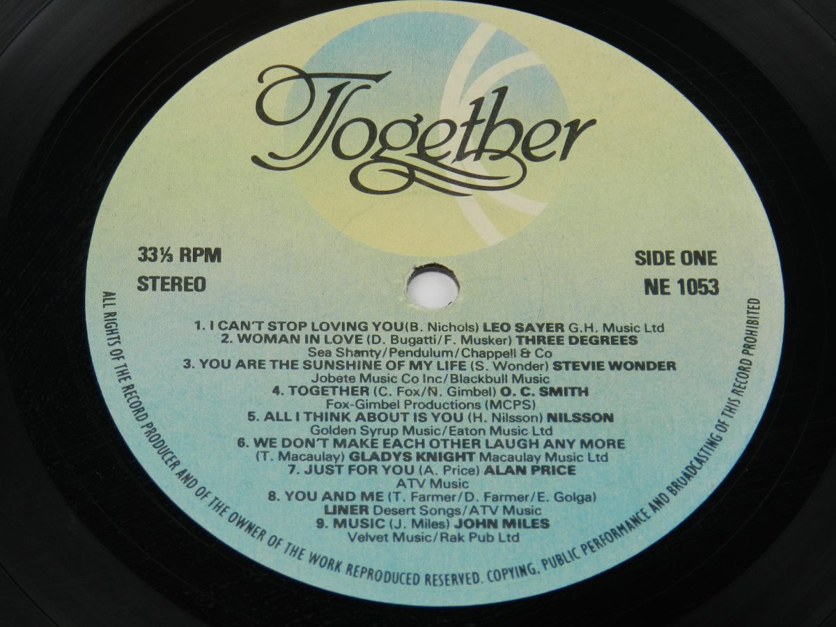 Various – Together vinyl record side A label scaled