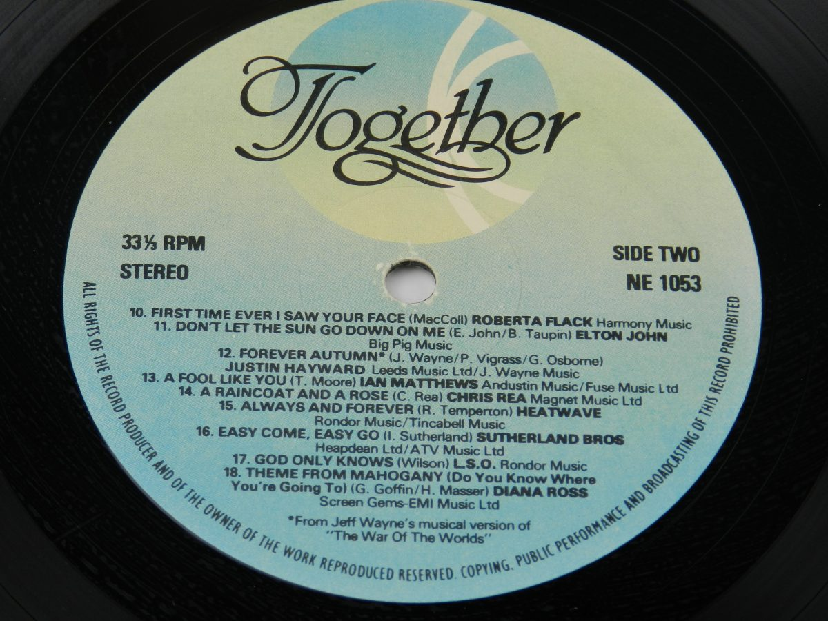 Various – Together vinyl record side B label scaled