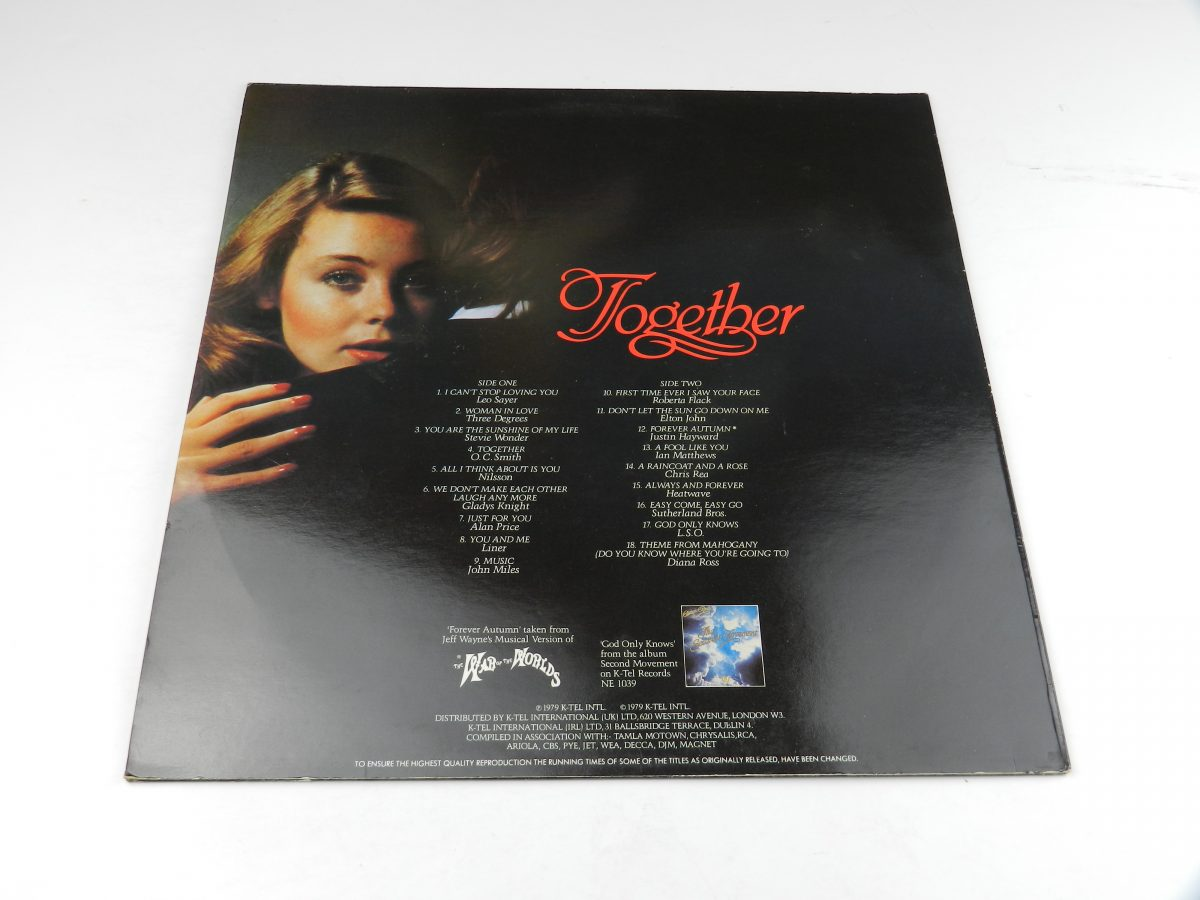 Various – Together vinyl record sleeve rear scaled